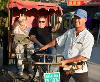Beijing Hutong Rickshaw and Foreign Visitors