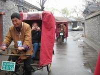 Visitors Visit Beijing Hutong by Rickshaw