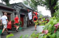 Foreign Visitors Visit Beijing Alley