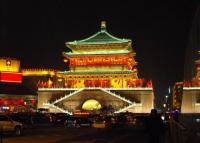 Bell Tower Attractive Night Scene Xian
