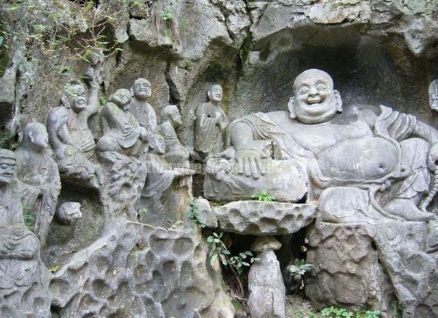 Hangzhou Feilai Peak Figure of Buddha Carved Stone