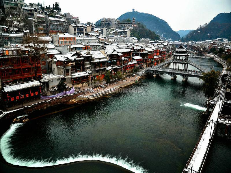 Fenghuang Ancient City in Snow