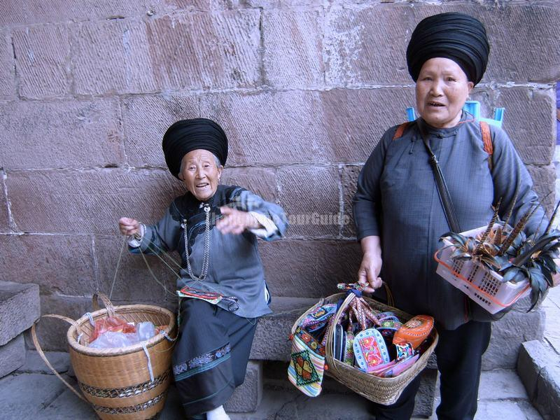 Two Old Miao Women in Fenghuang Old Town