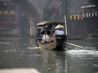 Boating in Tuo River, Fenghuang Old Town