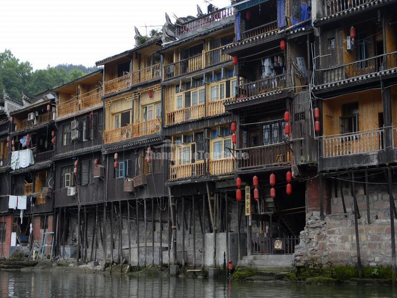 The Stilted Houses in Fenghuang Old Town