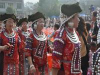 The Miao Women Celebrate Their Festival in Fenghuang Old Town