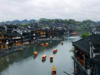 The Boats in Tuo River