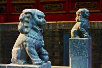 Guanlin Temple Beautiful Stone Lions