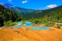 Huanglong Beautiful Flamboyant Pond