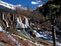 Huanglong Marvelous Flying Waterfall Autumn