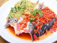 Hunan Cuisine-Steamed Fish Head in Chili Sauce