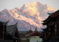 Jade Dragon Snow Mountain and Building Yunnan