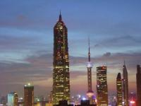 Jinmao Tower Beautiful Night Scene Shanghai