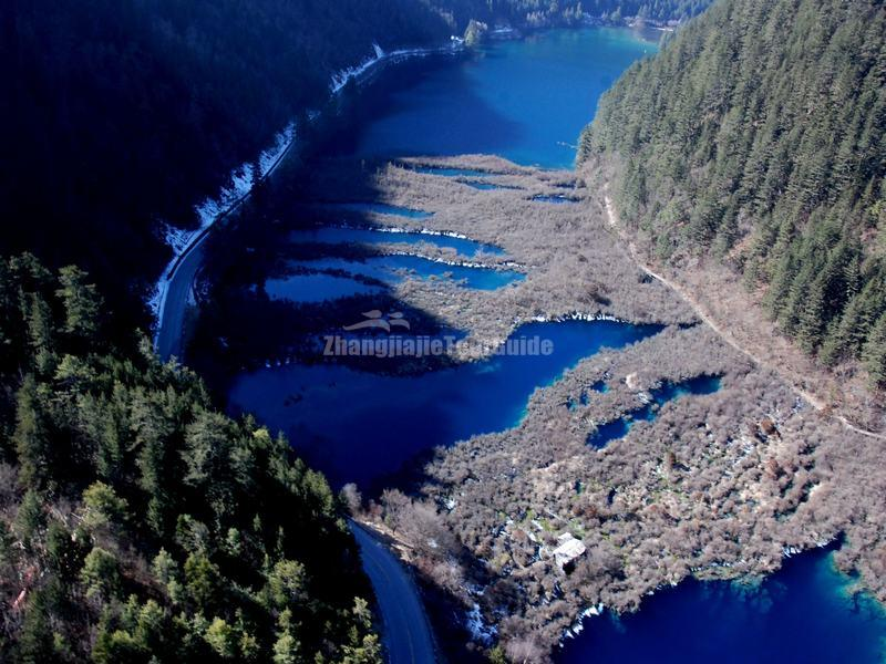 The Nuorilang Lakes in Jiuzhaigou Valley