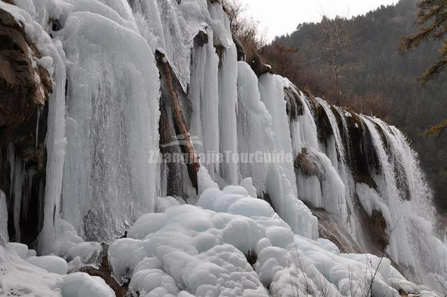 Jiuzhaigou Waterfall Winter