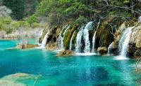 Jiuzhaigou Charming Waterfall