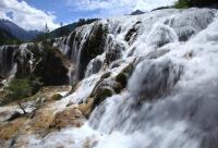 Jiuzhaigou Beautiful Pearl Shoal Waterfall