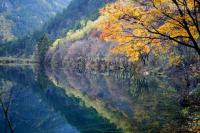 Jiuzhaigou Mirror Lake Autumn