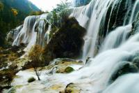 Jiuzhaigou Waterfall Autumn