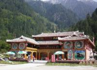 Tibetan House in Jiuzhaigou Valley