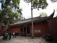 The Lingyun Temple in Leshan Giant Buddha Scenic Area
