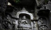 Lingyin Temple Beautiful Figure of Buddha Carved Stone Hangzhou