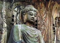 Longmen Grottoes Charming Figure of Buddha Sculptures Luoyang