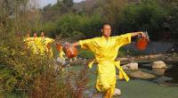 Shaolin Temple Monks Practicing Zhengzhou