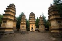 Shaolin Temple Beautiful Pagoda Forest Zhengzhou