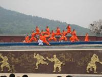 Shaolin Temple Monks Playing Gong Fu