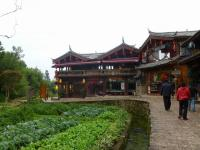 Shuhe Old Town Building and Vegetable Plot Lijiang