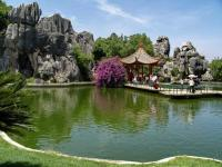 Stone Forest Beautiful Water and Pavilion China
