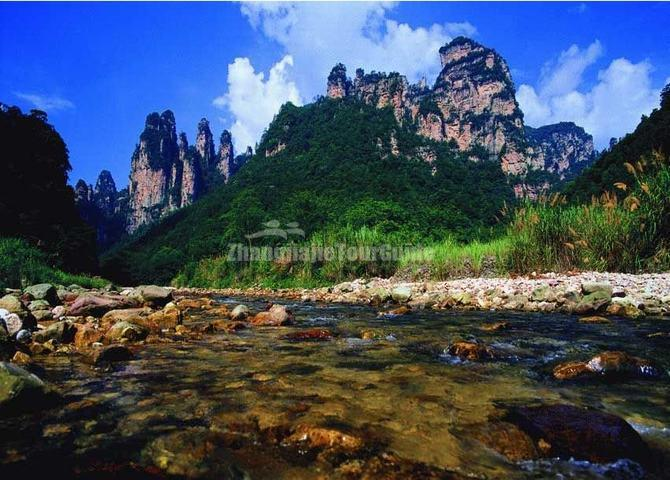 The Golden Whip Brook at Zhangjiajie Suoxi Valley Nature Reserve