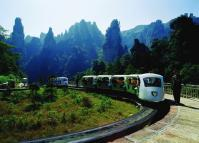 The Mini Train at Suoxi Valley Nature Reserve, Zhangjiajie, China