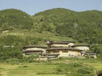 Tianluokeng Tulou Cluster Summer Scenery