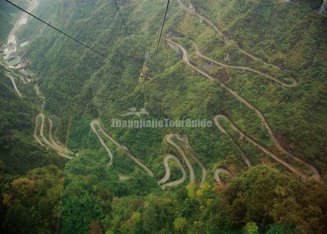 Tianmen Mountain Winding Highway