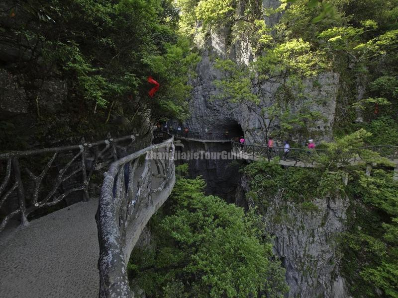 The Plank Road in the Ghost Valley in Tianmen Mountain