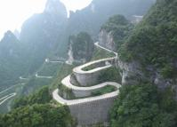 Winding Road in Tianmen Mountain Scenic Area