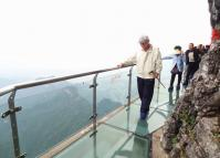Tianmen Mountain in Zhangjiajie China Glass Path
