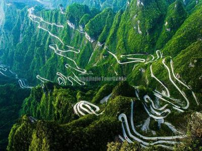 Tianmen Mountain 99 Bending Road