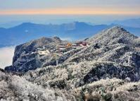 Tianmen Mountain Temple in Snow
