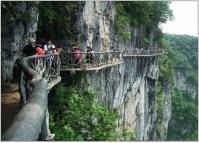 Plank Road along High Cliff Mount Tianmen China