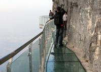 Skywalk at Tianmen Mountain Zhangjiajie National Park China