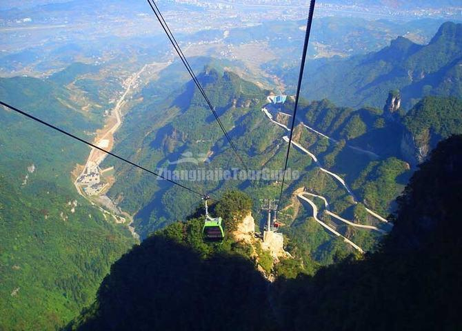 Tianmen Mountain Winding Road and Cable Car