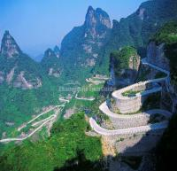 Tianmenshan Winding Mountain Road
