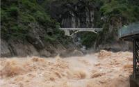 Tiger Leaping Gorge Angry River and Bridge Lijiang