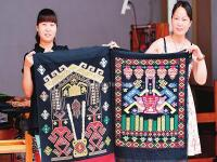 Two Women Show Their Xilankapu Brocade