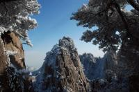 Yellow Mountain Snow Landscape Huangshan