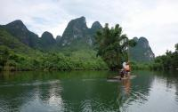 Yulong River Beautiful Water and Mountains Guilin